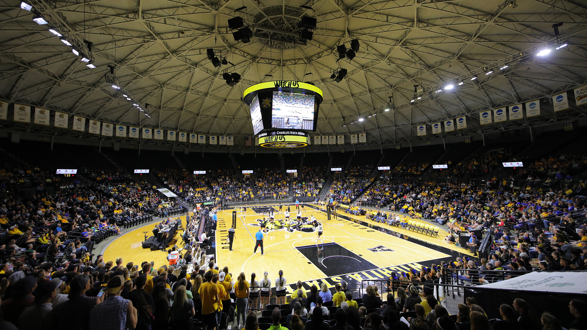 Shockers Unveil 2019 Volleyball Schedule - Wichita State Athletics on koch arena seating guide, koch arena seating chart, koch arena map, koch arena events,